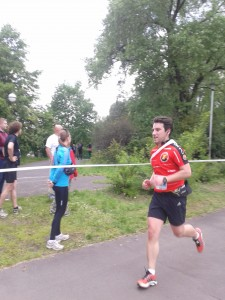 Erdal running his third Accreo relay marathon in a row