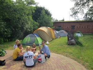 Our campsite at Pałac Bałoszyce