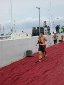 Ela powering through the aquathon